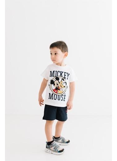 Mickey Mouse  Lisanslı Çocuk Takım 18070 Beyaz